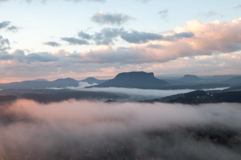 morning fog at bastei
