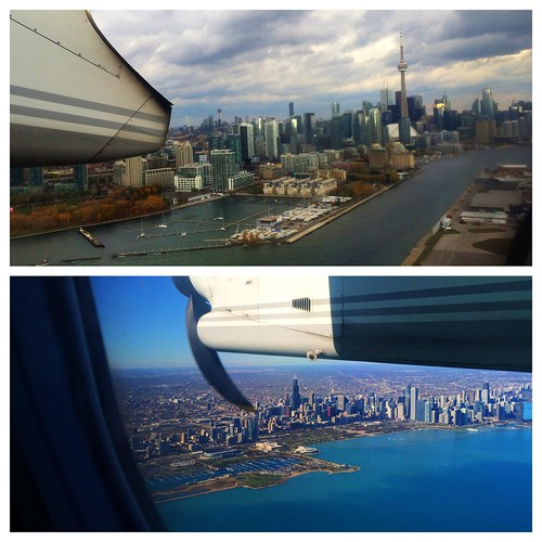 Nice views leaving Toronto and arriving in Chicago today. | by Julie Rubes