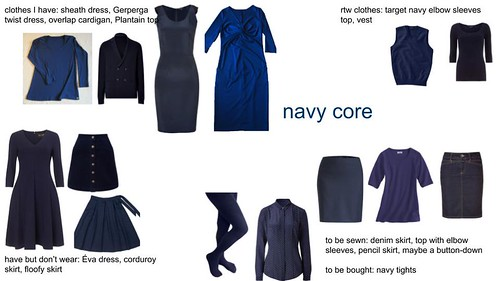 wardrobe building 2 - navy core | by Emily Handler