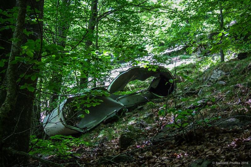 Algo que parecen restos de un avión