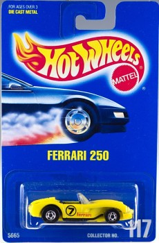1991 Hot Wheels Ferrari 250, Collector Number 117