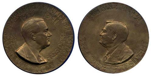 1937 Roosevelt Inaugural Medal