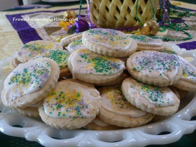 Mardi Gras Vanilla Sugar Cookies 8