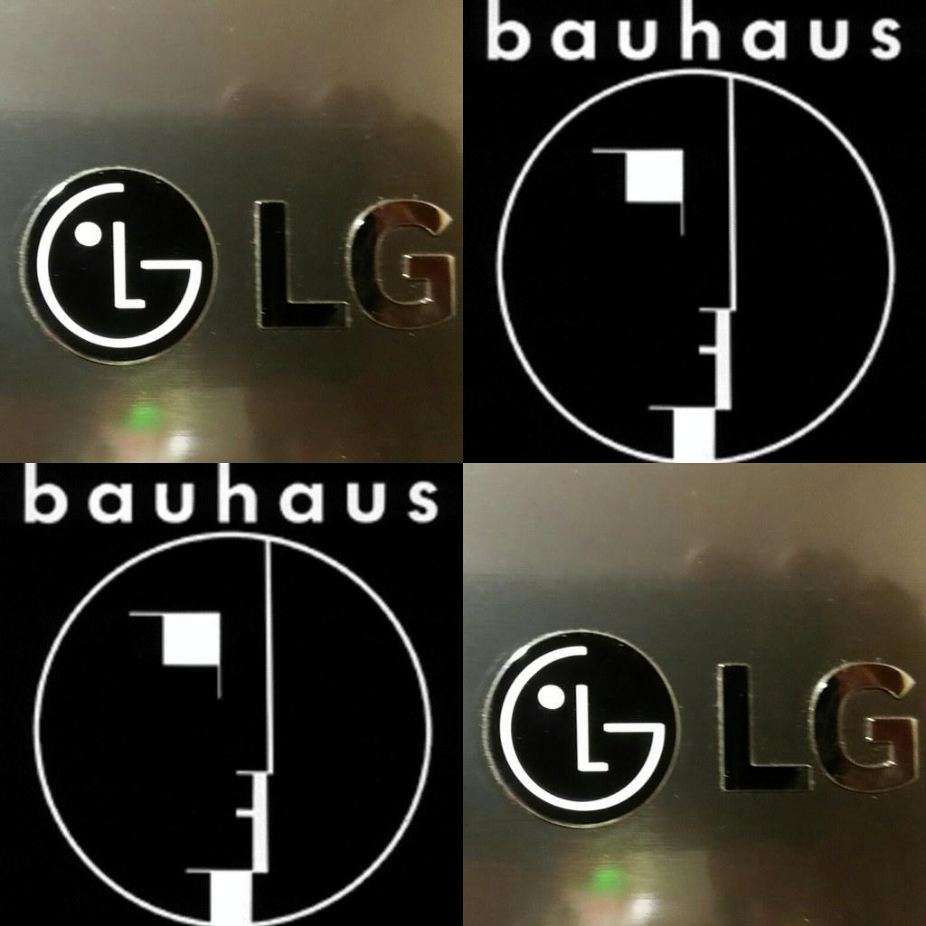 lg big bauhaus fans logo from my new refrigerator reminde flickr. Black Bedroom Furniture Sets. Home Design Ideas