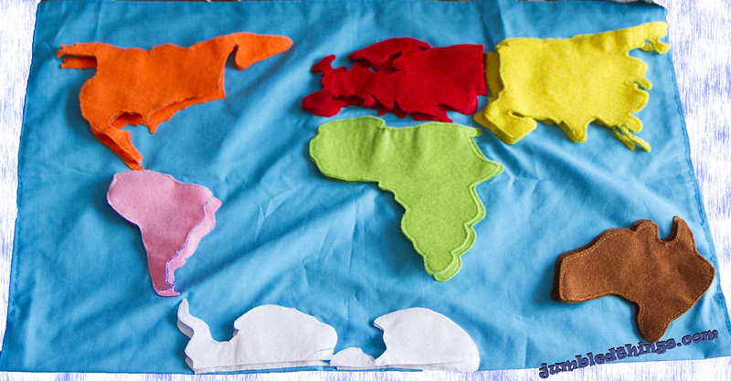 Around the world (felt)