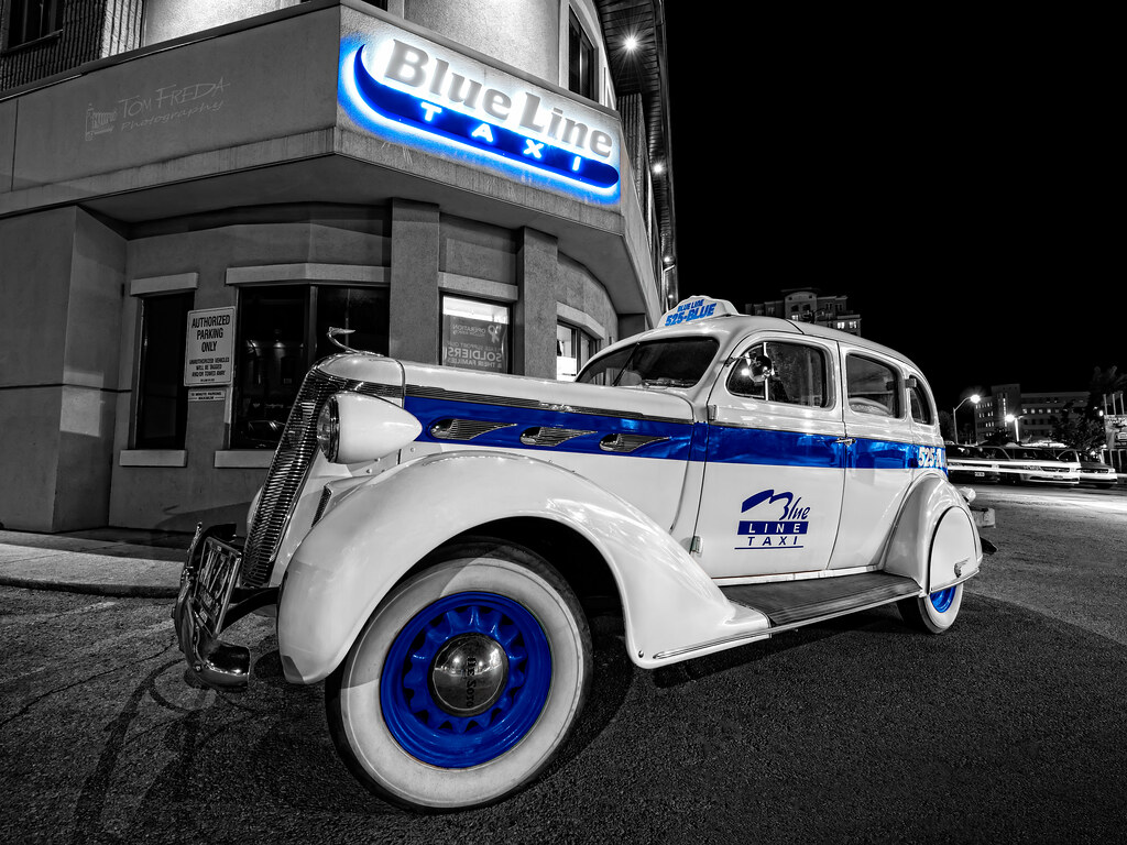 Blue Line Taxi   1936 De Soto cab owned by Blue Line Taxi, H…   Flickr
