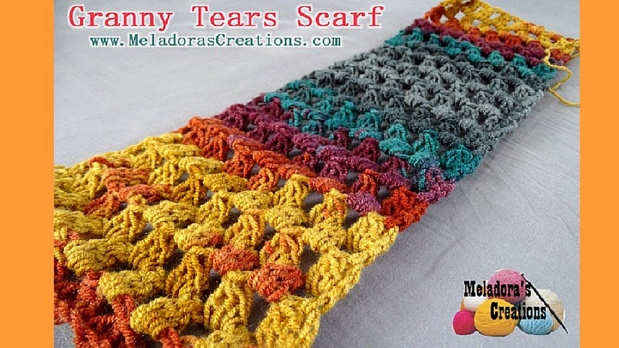 Granny Tears Scarf Finished Youtube 900 Granny Tears Scarf Flickr
