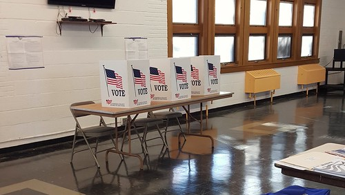 Voting booths in Cleveland Heights | by Tim Evanson
