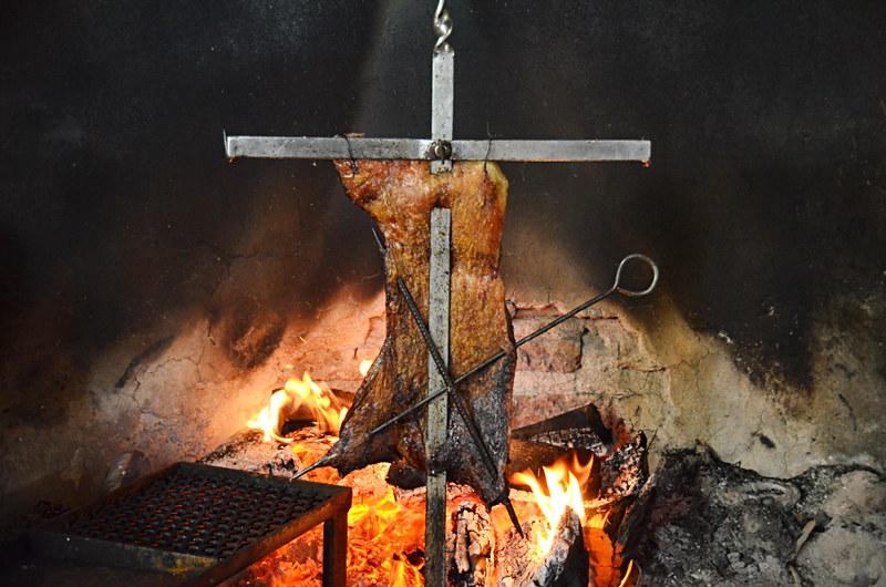 Cordero asado, Guincho, Coyhaque, Chile