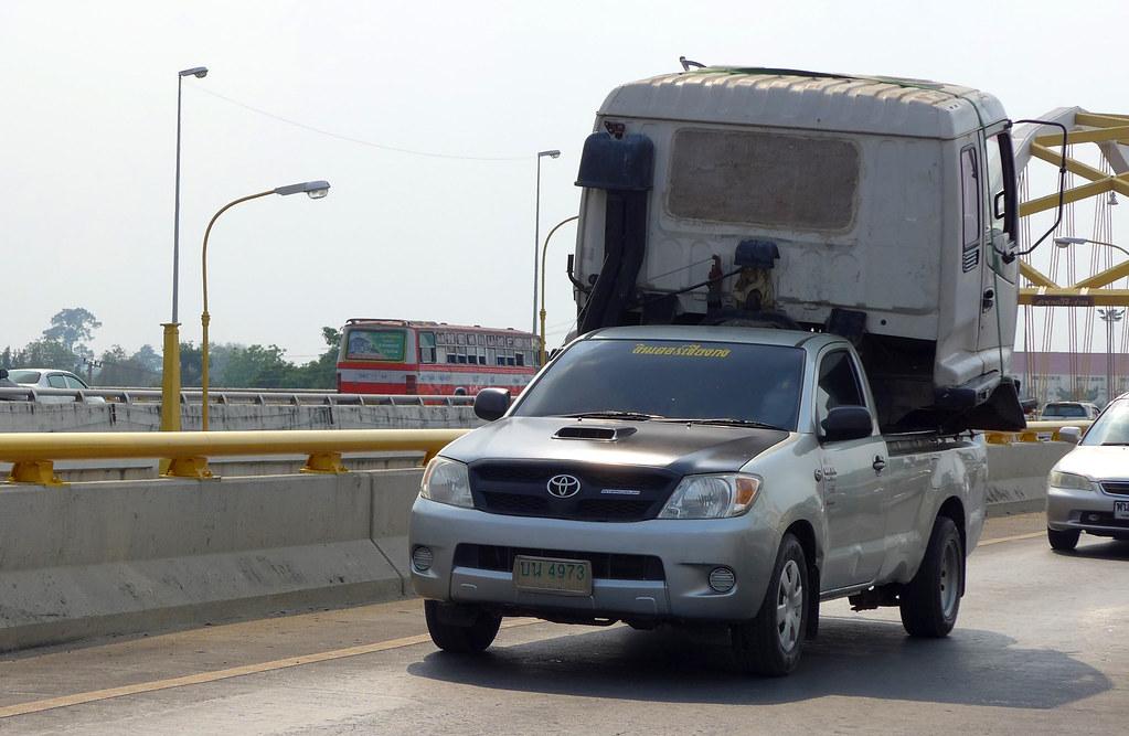 Thaïlande - Ayutthaya - 183 - Camion sur voiture