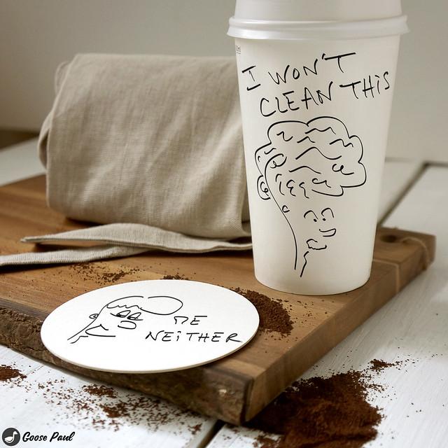 coffee sarcasm cartoon drawing