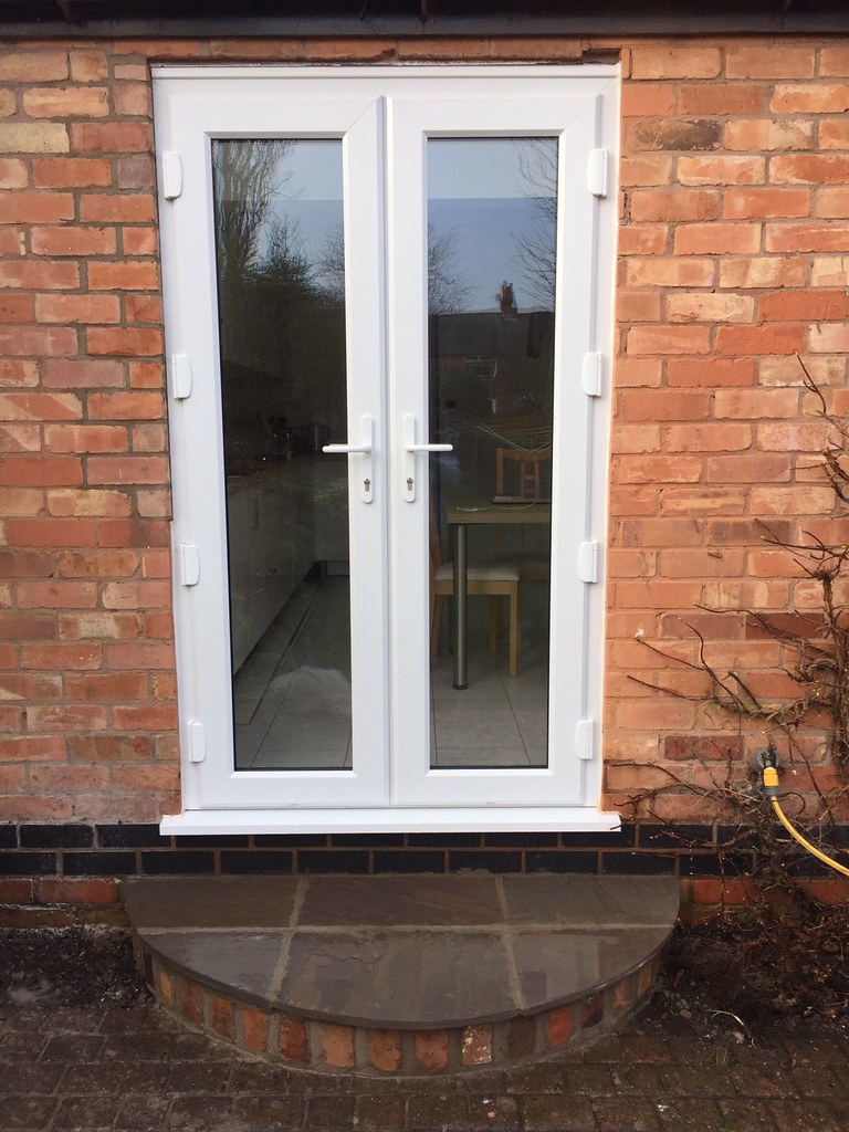 Upvc French Doors White Synseal A Rated Double Glazed Lege Flickr
