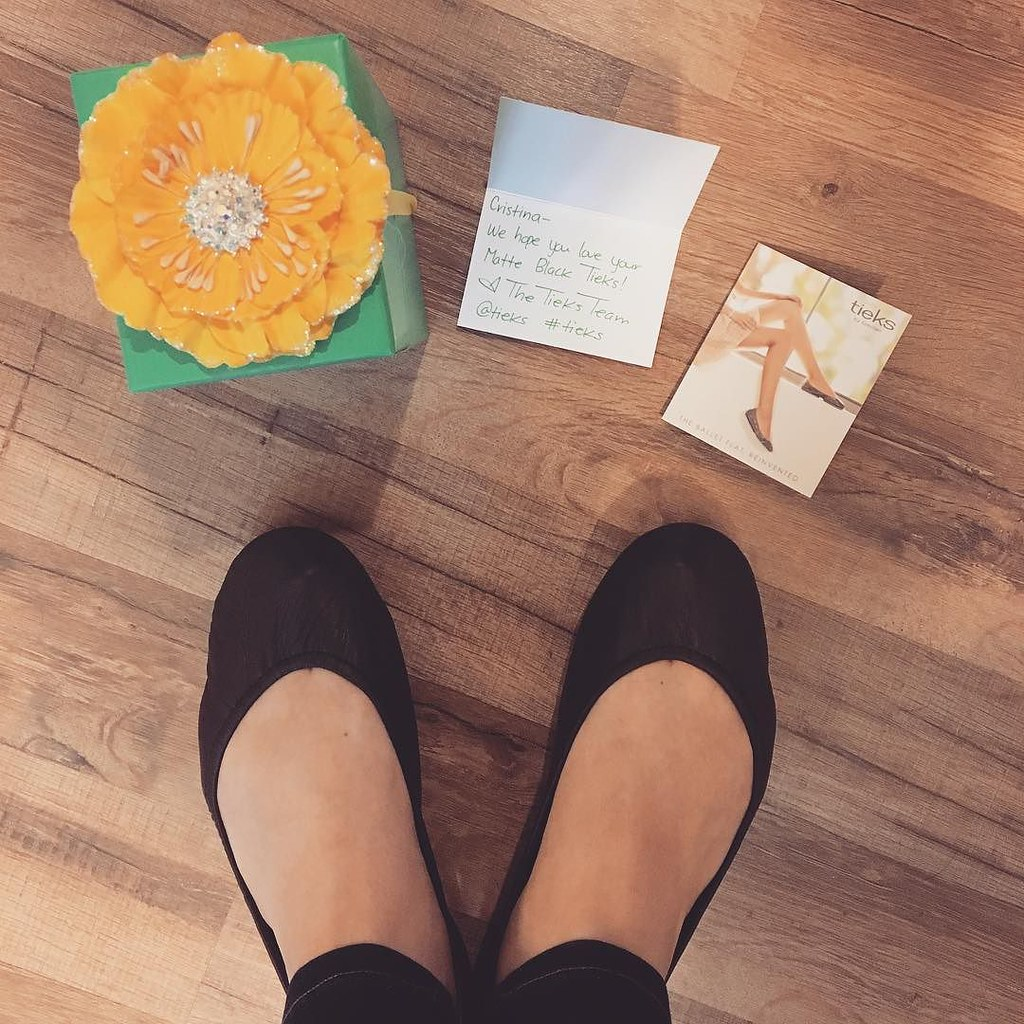 Got my very first pair of #tieks yesterday! They came in the most adorable box with the sweetest note. And they are comfy AF! #tieksbygavrieli