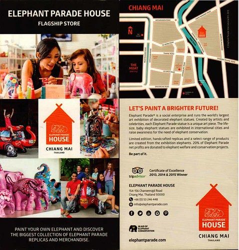 Brochure Elephant Parade House Chiang Mai Thailand 1