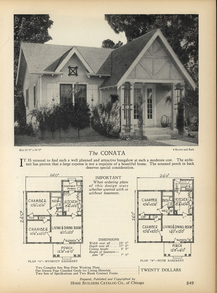 1928 Home Builders Catalog Daily Bungalow