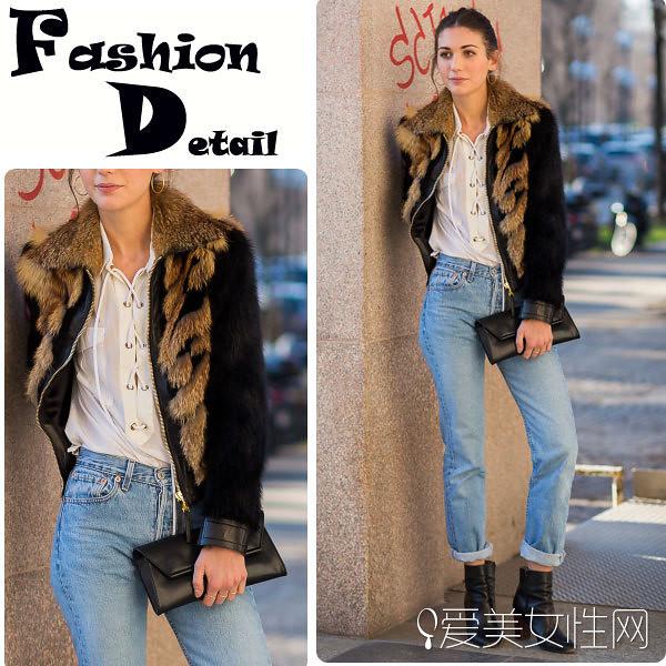 Fall without fashionable jacket beautiful ride