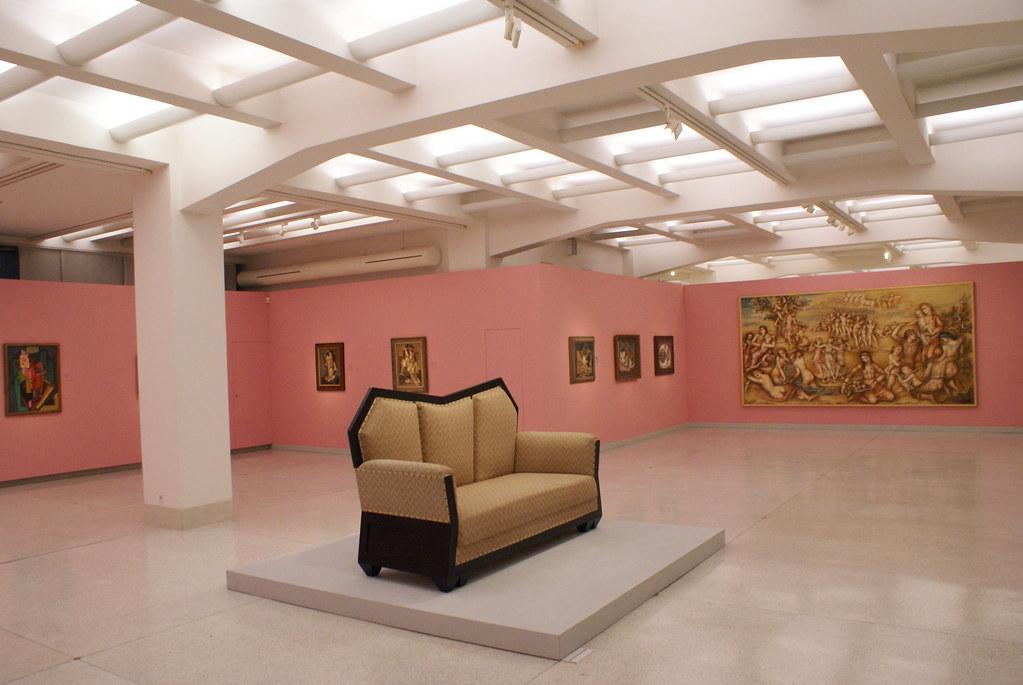 Intérieur du musée d'art moderne de Prague.