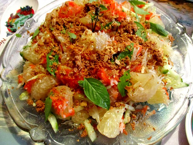 Christmas lunch pomelo salad