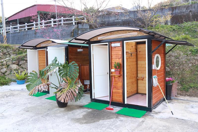 獨立區的檜木衛浴
