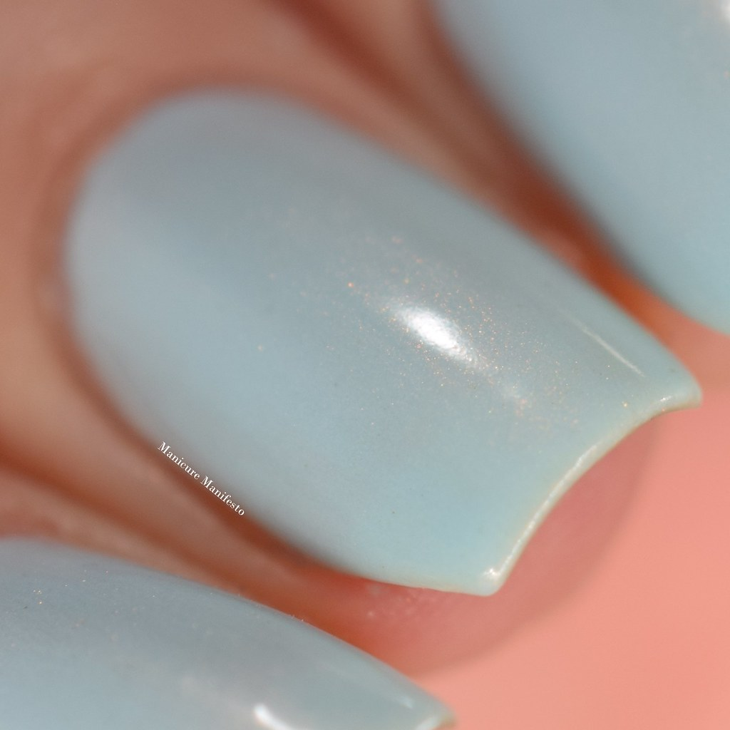 China glaze blue shimmer nail polish
