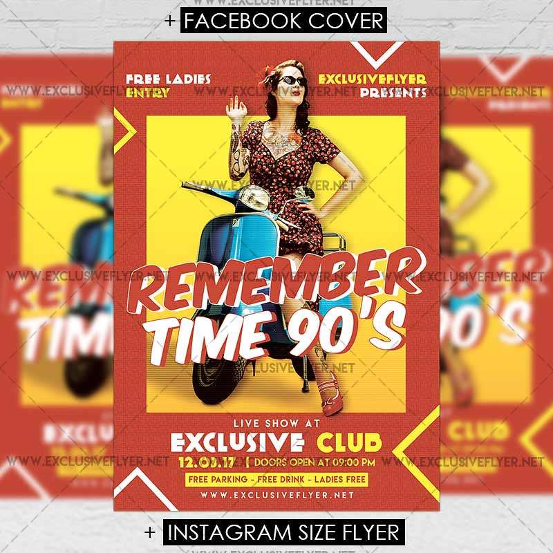Remember Time 90s Premium A5 Flyer Template The Remembe Flickr