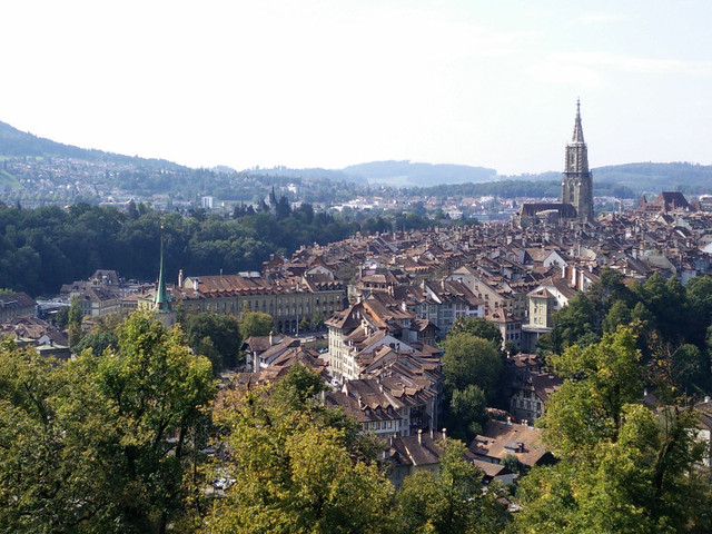 Berna desde un puente bernés