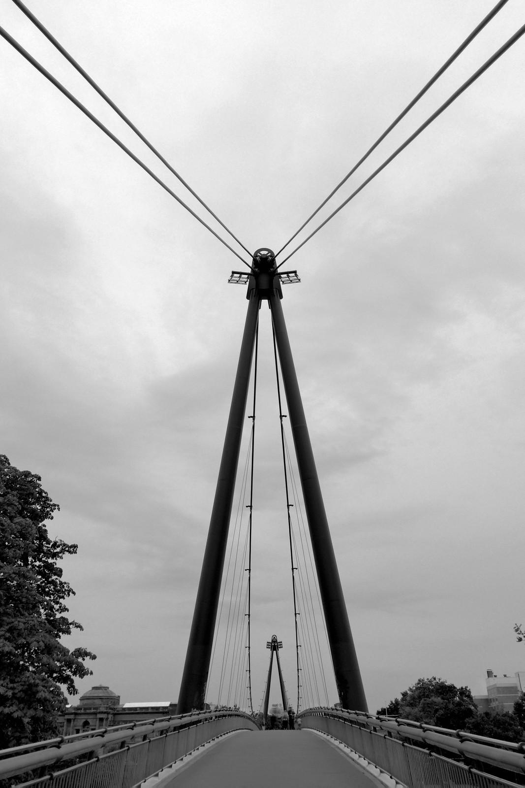Suspension bridge in Frankfurt, Germany