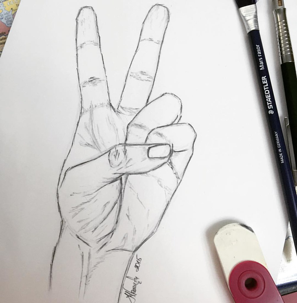 peace #hand #doodle #pencil #drawing #sketch #anatomy #art… | Flickr