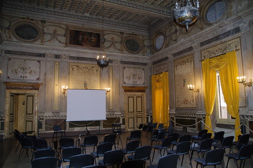 A lecture room in the city of Palazzo Taverna.