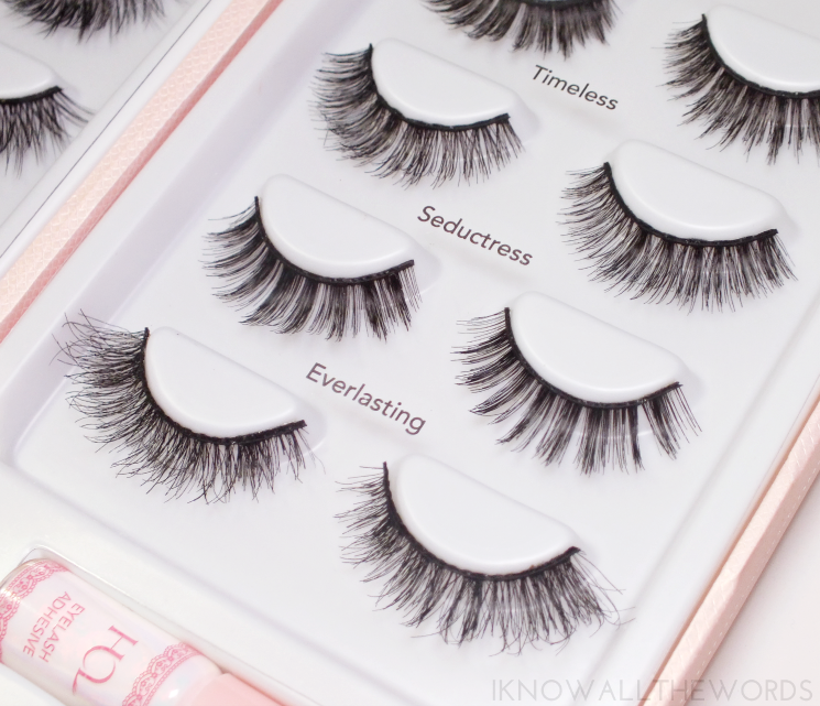house of lashes x sephora exclusive timeless, seductress, and everlasting