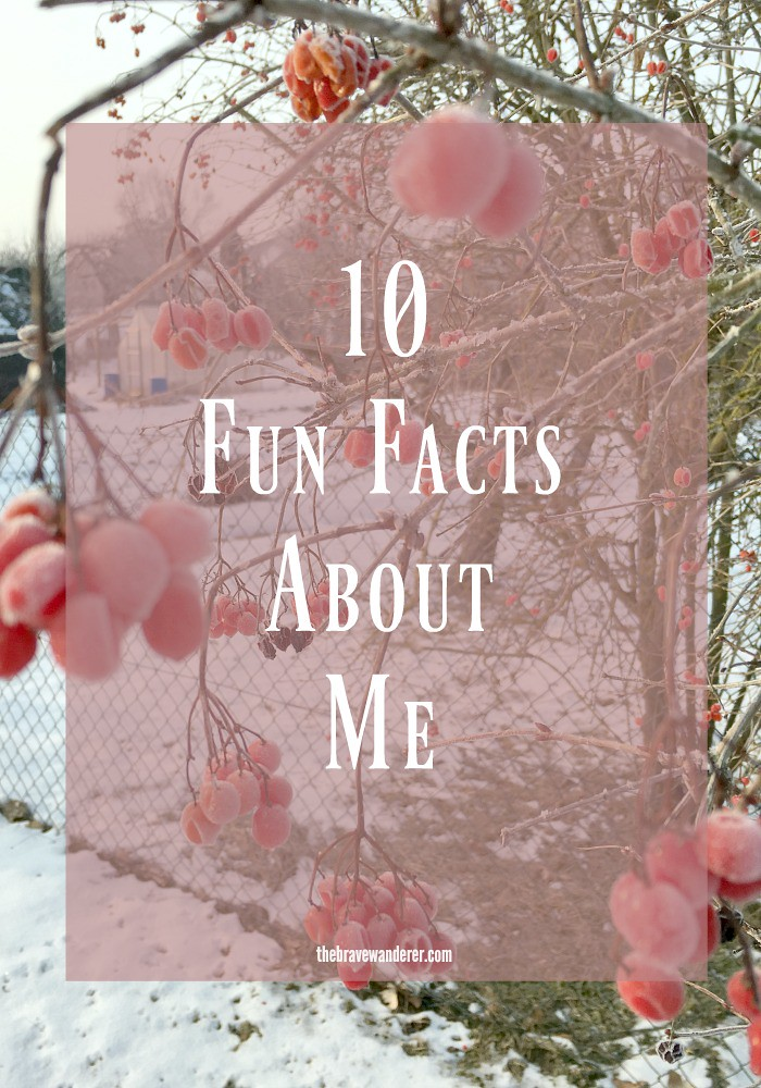 Sharing a few fun facts about myself. Come over and share some about you as well!