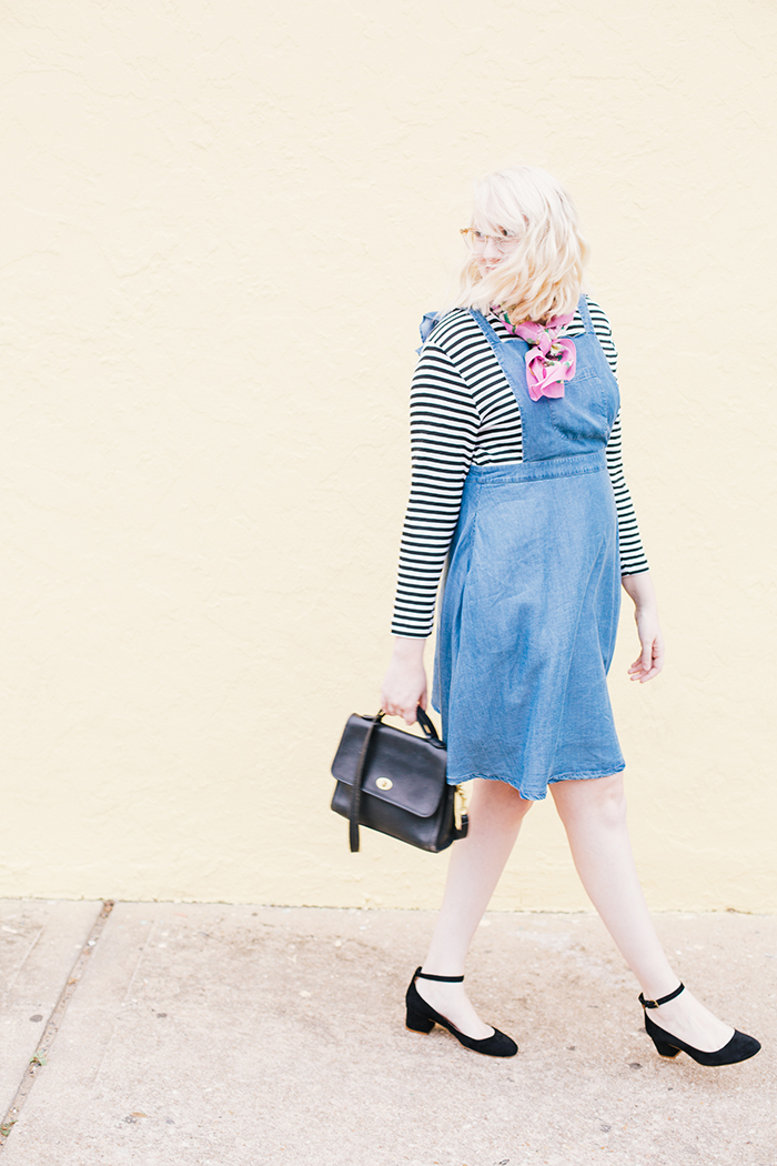 austin fashion blogger modcloth jumper striped shirt7
