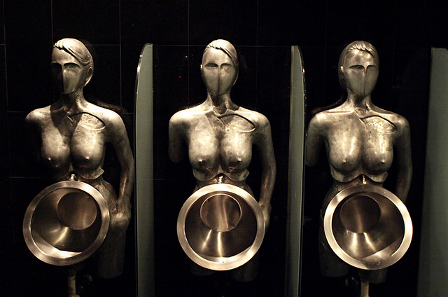 Nude urinals, Faro Chill Art, Costa Adeje, Tenerife