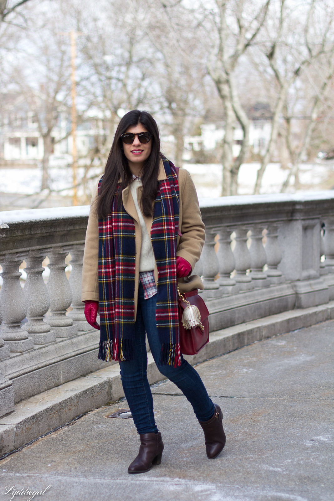 thrifted cashmere sweater, j.crew coat, plaid scarf, coach willis.jpg