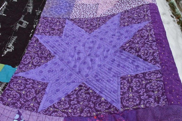 large purple star