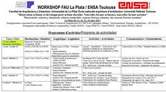 WS - La PLata - Toulouse  Calendrier-planning