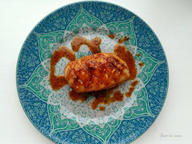 утка с апельсиново-горчичным соусом