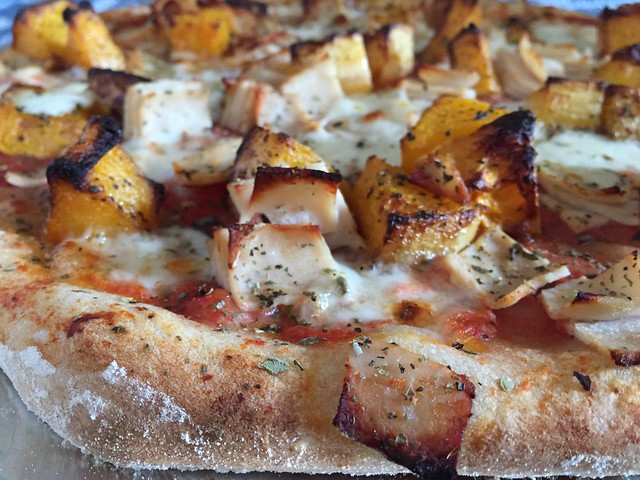 Roasted Butternut / Turkey Pizza