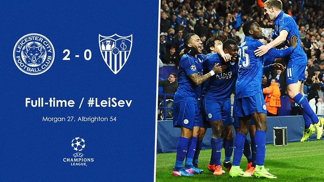 Champions League - Octavos de Final (Vuelta): Leicester City 2 - Sevilla FC 0 (3-2)