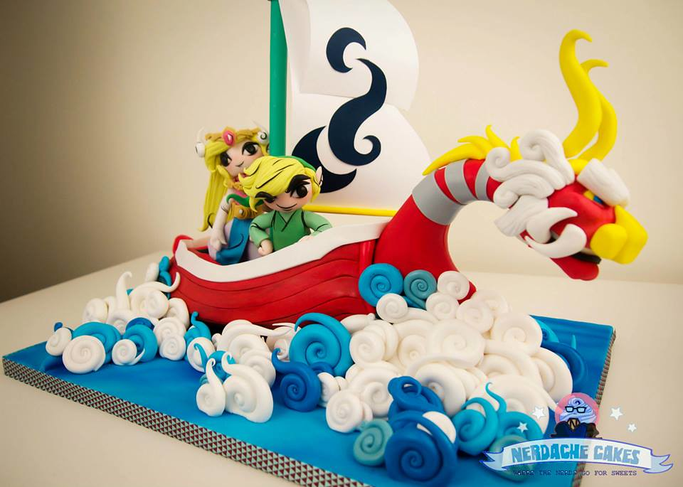 The Legend of Zelda: Wind Waker Cake by Nerdache Cakes