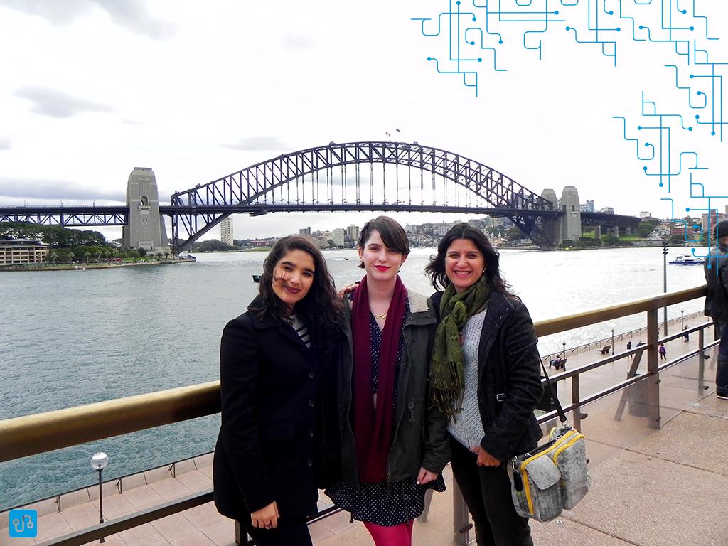 Vista da Harbour Bridge do Opera House, em Sydney