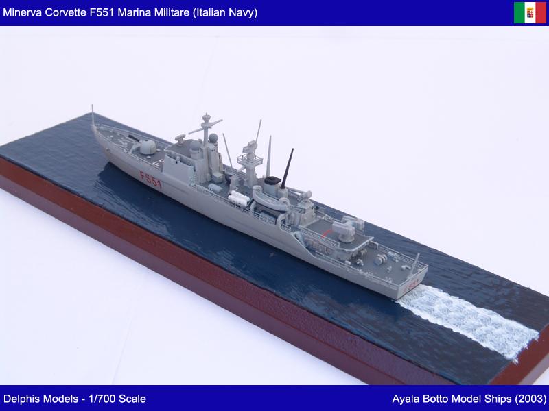 Corvette Minerva F551 Marina Militare - Delphis Models 1/700 21774713261_69acc83f7b_c