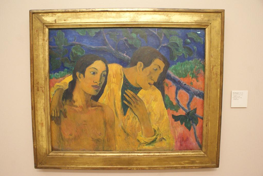 Peinture de Paul Gauguin au musée d'art moderne.