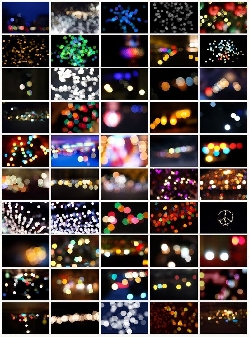 Photo overlays bokeh for Photoshop PSD 4500×3000, 50 MB