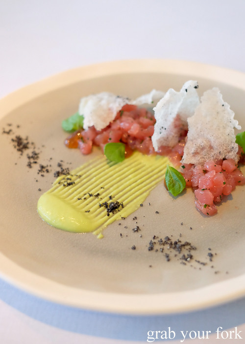 Yellowfin tuna tartare at Bathers' Pavilion in Balmoral Sydney