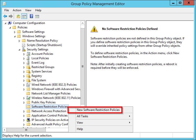 Come creare delle software restriction policies per bloccare virus e