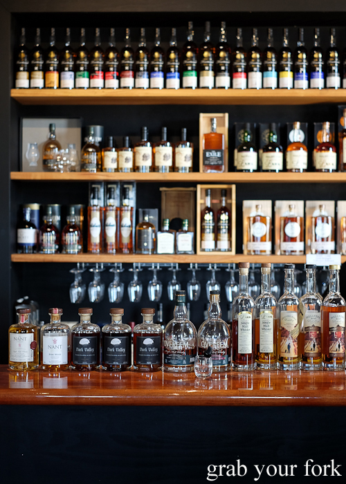 Whiskies at Bruny Island House of Whisky on Bruny Island in Tasmania