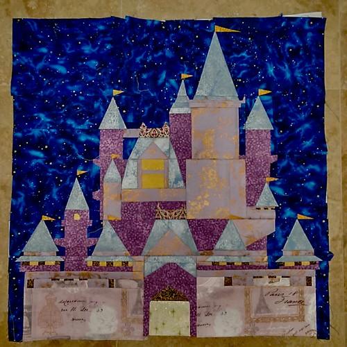 Cinderella's Castle quilt block
