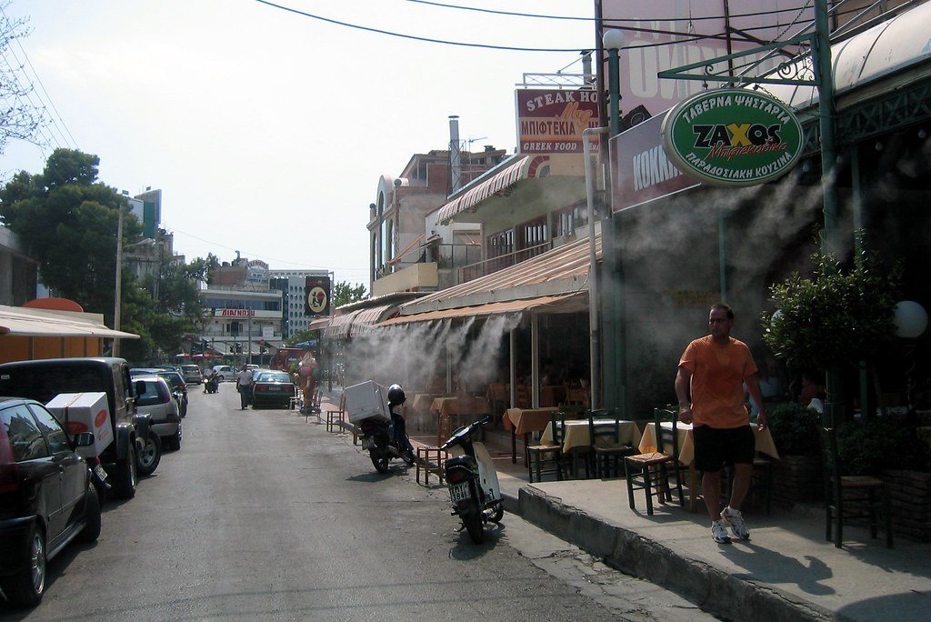 Greece - Glyfada: Biftekoupoli  Konstantinoupoleos Street ...