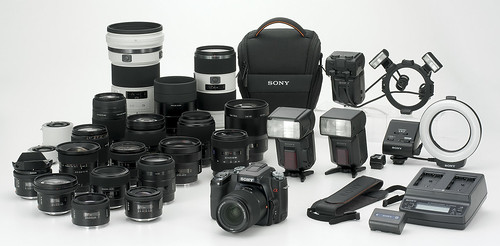 Sony Alpha DSLR-A100 and accessory | by Jacky W